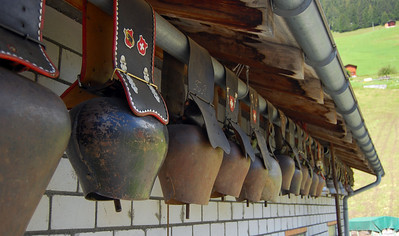 Ceremonial cow bells used when the heard return from high country grazing