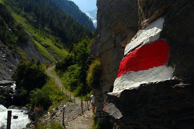 Swiss trail marker