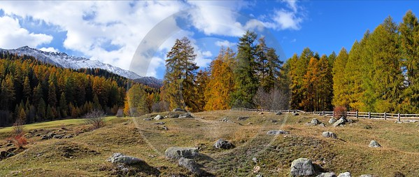 Santa Maria Berge Schnee Panorama Schweiz Switzerland Wolken Country Road Fine Art Ice - 001554 - 20-10-2007 - 10269x4335 Pixel