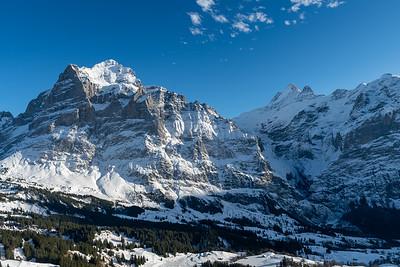The Wetterhorn peak, seen from Grindelwald-First gondola.