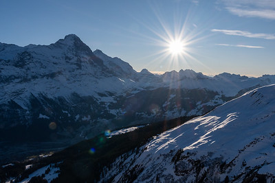 The Eiger and (just beind it) Jungfrau, above Grindelwald.