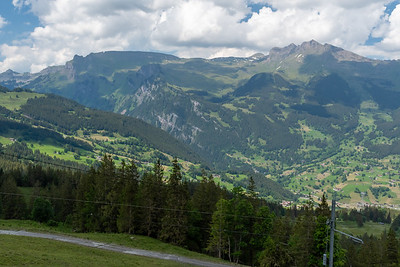View from across the Grindelwald valley at the route I hiked in September.