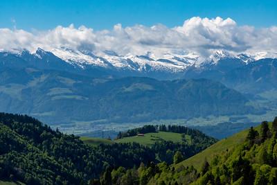 Glarus Alps seen from  the summit of Hüttchopf.