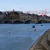 Basel - Rhine river, Mittebrücke