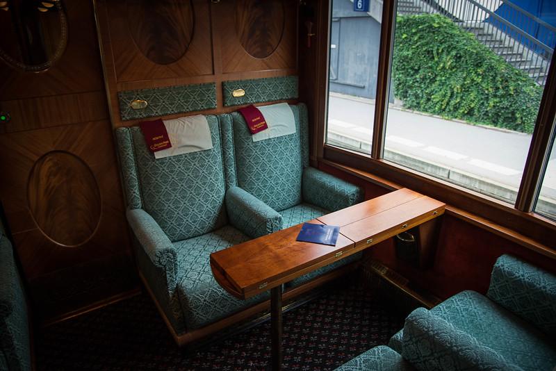 european train first class cabin