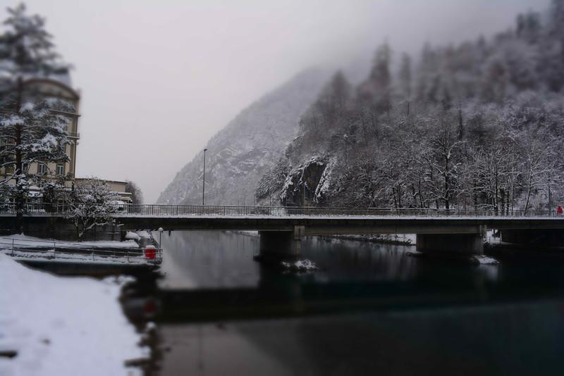 interlaken bridge river aare