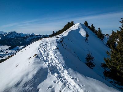 Following the ridgeline west of Kronberg.