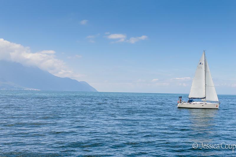 Boating on Lake Geneva