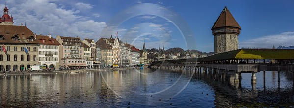 Luzern Bridge Old Town Rigi Winter Lake Mountain Leave Fine Art Photo Fine Art Printing Fog Rock - 014142 - 28-12-2013 - 18826x6935 Pixel