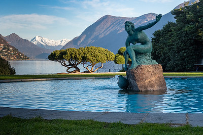 "Lakeside sculpture ""l'acquaiola"", Lugano."