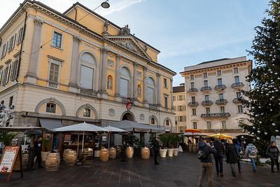 The main square in Lugano.