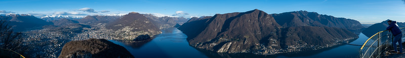 View from Monte San Salvatore, Lugano.