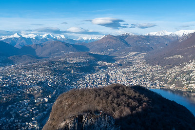 View from Monte San Salvatore, Lugano.