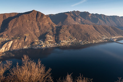 The tiny town of Campiano d'Italia, a piece of Italy surrounded by Switzerland - seen from Monte San Salvatore, Lugano.