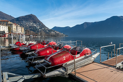 Pedal boats available, Lugano.