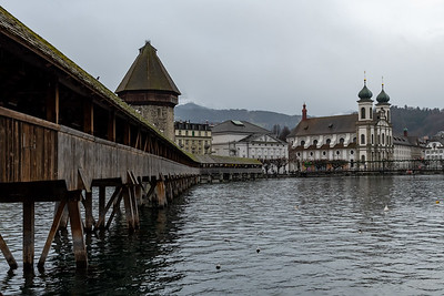 "The famous ""Chapel bridge"" in Luzern, Switzerland."