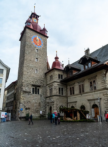 Streets of old town in Luzern.