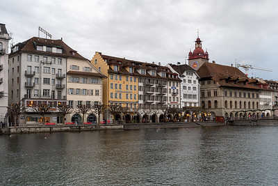 The riverfront in Luzern, Switzerland.