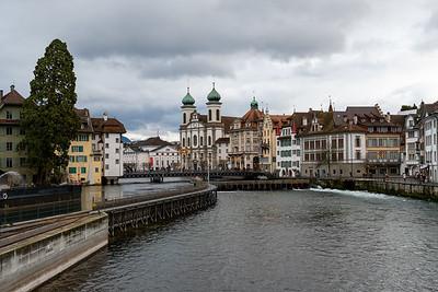 The Reuss river in Luzern.