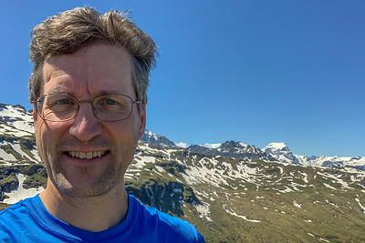 David at the viewpoint near Leglerhütte.