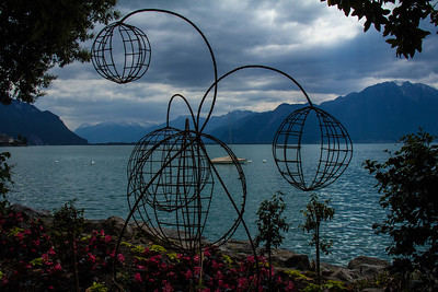 The promenade of Montreux, June 2015