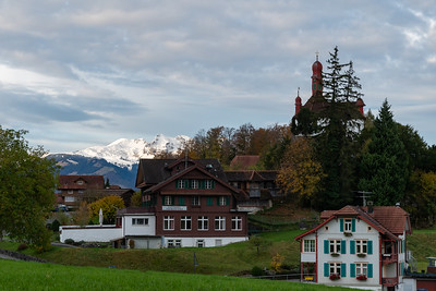 View from the Paxmontana Hotel, Flueli-Ranft, Switzerland.