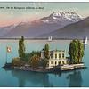 Lac  Léman et Ile Salagnon, Dents du Midi, Montreux