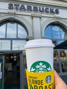 Starbucks reopens in Zurich.