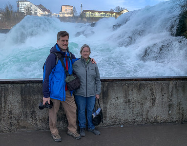 David and Pam at the Rheinfall.