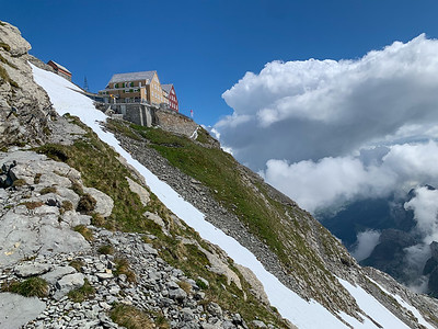 The clouds clear as we approach Altsäntis, the original hotel & restaurant.