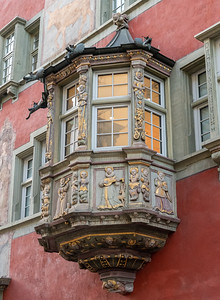 Some of the many elaborate oreils in Schaffhausen.