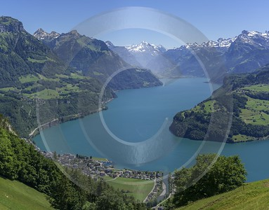 Urmiberg Brunnen Vierwaldstaettersee Seelisberg Lake Alps Panoramic Mountain - 021709 - 08-06-2017 - 13020x10196 Pixel