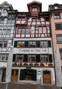 Streets of St. Gallen's old town, Switzerland.