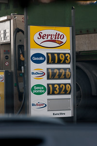 Petrol prices in Italy