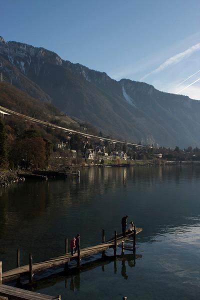 Switzerland, Chillon, Pier SNM