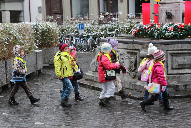 Switzerland, Lucerne, Kindergarten Children on Excursion