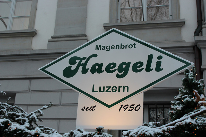 Switzerland, Lucerne, Haegeli Confectionary Sign