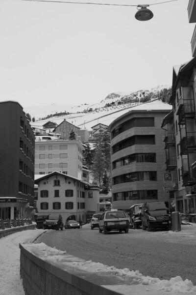 Switzerland, St Moritz, Town Centre SNM