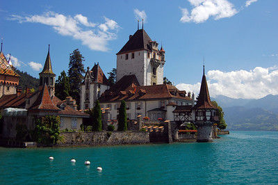 Oberhofen Castle on lake Thun