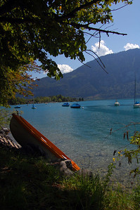 Our swimming spot on lake Thun