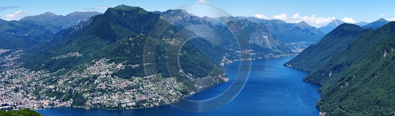 Monte San Salvatore Lugano Lago Di Pugema Fine Art Print Stock Images Snow View Point - 003277 - 13-06-2008 - 13722x4054 Pixel