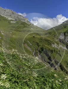 Klausenpass Altdorf Mountain Forest Blue Sky Outlook Barn Sunshine Stock Images Art Prints Prints - 023018 - 02-08-2015 - 7184x9428 Pixel