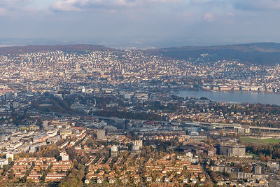 View of Zurich from Uetliberg.