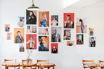 Exhibition in Café littéraire in Vevey