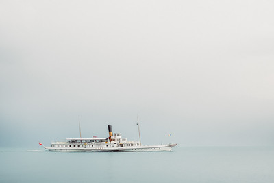 Vevey steamer boat from CGN