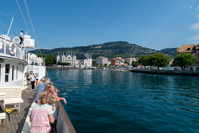 View of Vevey, Switzerland, from the ship of the same name.