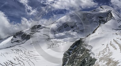 Saas Fee Felskin Allalin Glacier Ice Snow Alps Park Forest City Art Prints For Sale - 021309 - 16-08-2017 - 12196x6603 Pixel