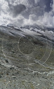 Saas Fee Morenia Ice Snow Alps Summer Panoramic Park Beach Fine Art Print Photo - 021297 - 16-08-2017 - 6720x11022 Pixel