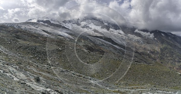 Saas Fee Morenia Ice Snow Alps Summer Panoramic Fine Art Foto Fine Art Nature Photography - 021298 - 16-08-2017 - 12465x6515 Pixel