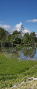 Zermatt Grindjisee Matterhorn Sumpf Bergbach Wiese Wald Tree Outlook Photo Fine Art Sea - 004404 - 11-08-2009 - 4113x9900 Pixel
